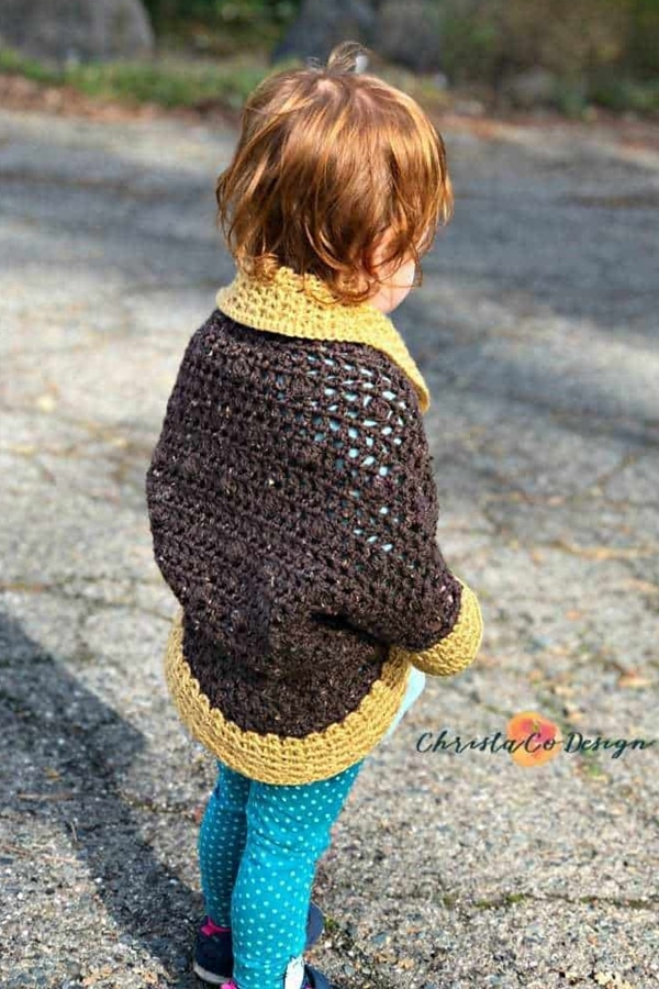 Bobble Cocoon Shrug - Easy Crochet Shrug Free Patterns for Beginners