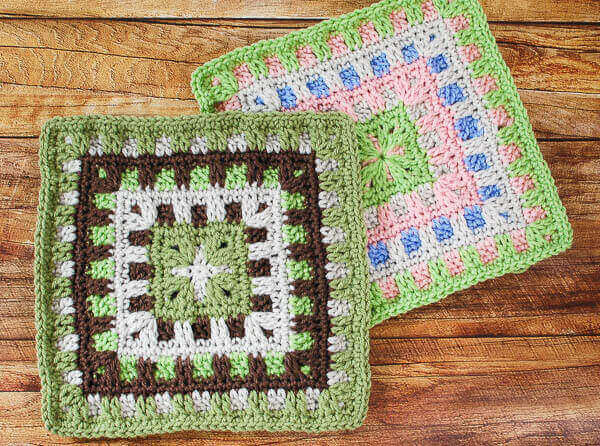 Caterpillar Square - Easy Crochet Granny Square Free Patterns for Beginners