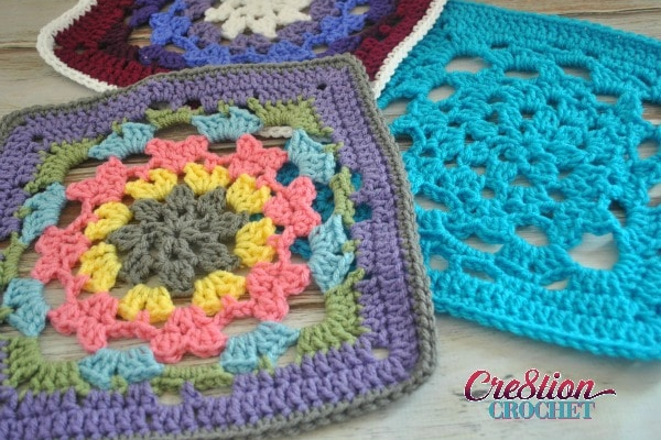 Latent Heart Square - Easy Crochet Granny Square Free Patterns for Beginners