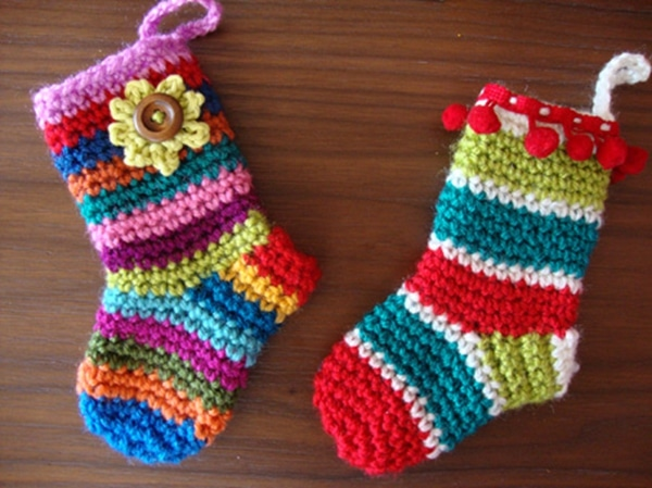 Little Christmas Socks - Easy Crochet Sock Patterns for Beginners