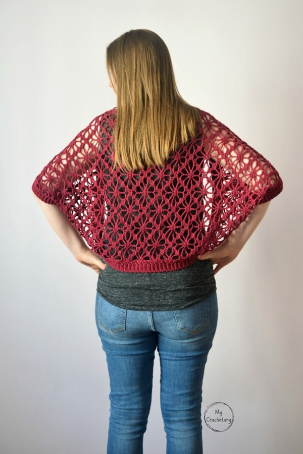 Meadow Lace Shrug - Easy Crochet Shrug Free Patterns for Beginners