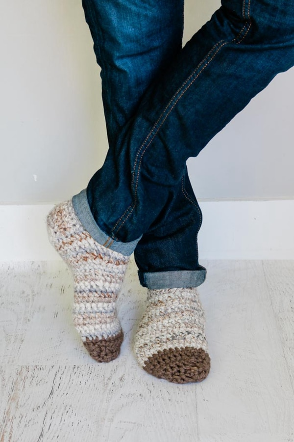 Snuggly Crochet Slipper Socks - Easy Crochet Sock Patterns for Beginners