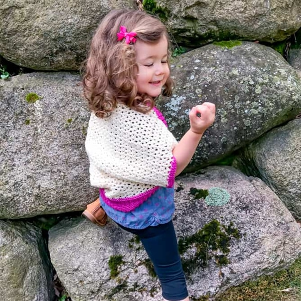 Toddler Cocoon Shrug - Easy Crochet Shrug Free Patterns for Beginners