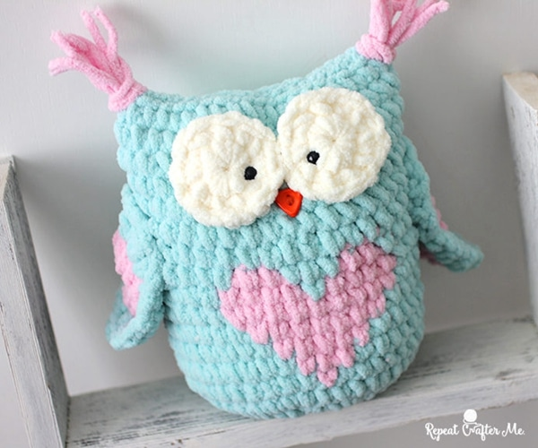 Valentine Heart Crochet Owl - Easy Crochet Valentine's Day Free Patterns for Beginners