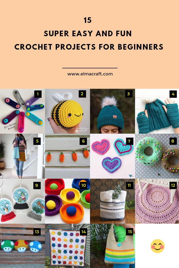 15 Super Easy and Fun Crochet Projects for Beginners