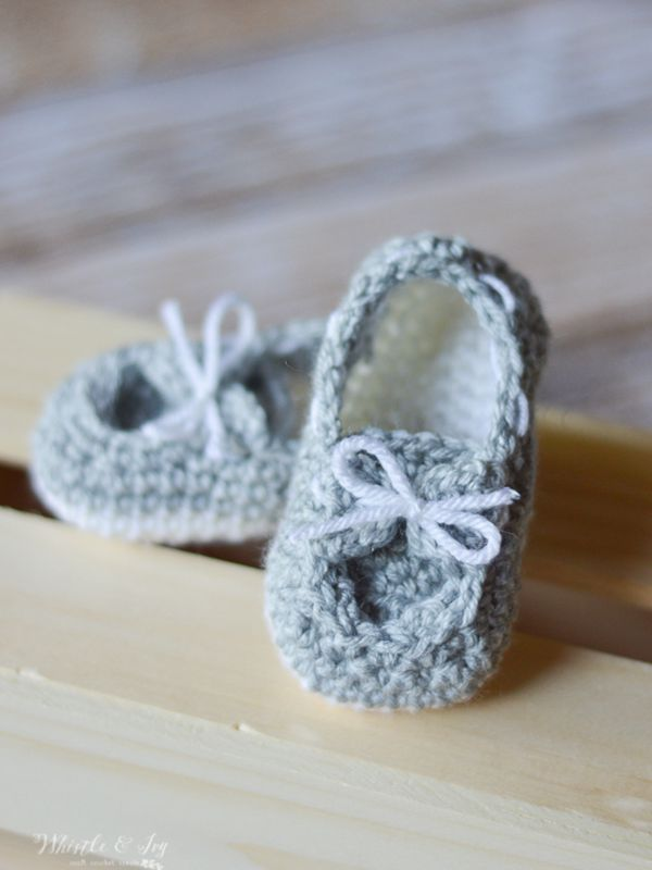 Baby Boat Booties - Easy Crochet Baby Bootie Patterns for Beginners