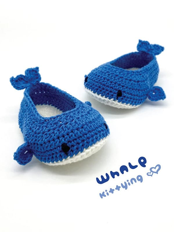Baby Whale Booties - Easy Crochet Baby Bootie Patterns for Beginners