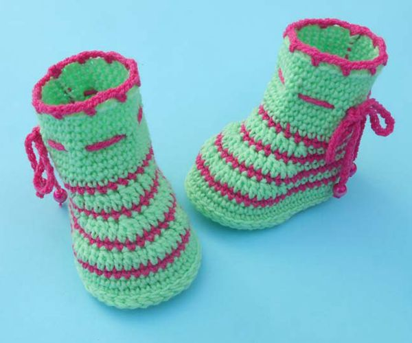 Easy Baby Booties - Easy Crochet Baby Bootie Patterns for Beginners