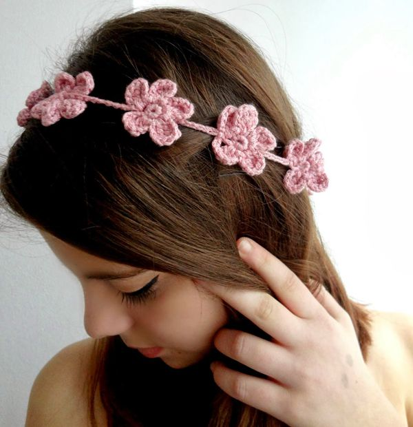 Forget Me Not Headband - Easy Crochet Baby Headband Patterns for Beginners