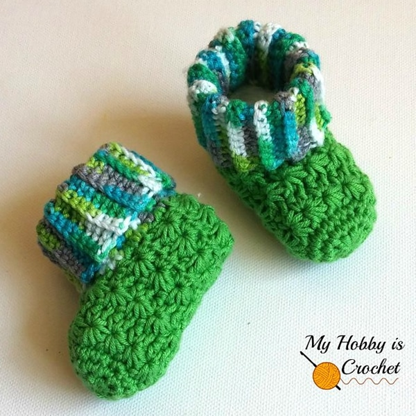 Galaxy Baby Booties - Easy Crochet Baby Bootie Patterns for Beginners