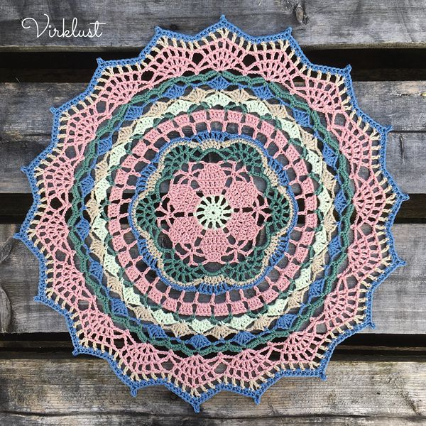 July Mandala - Easy Crochet Doily Patterns for Beginners
