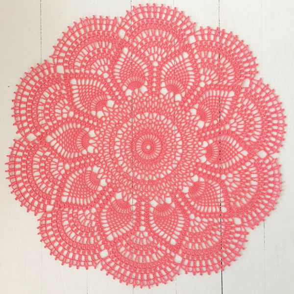 Pink Pineapple Doily - Easy Crochet Doily Patterns for Beginners