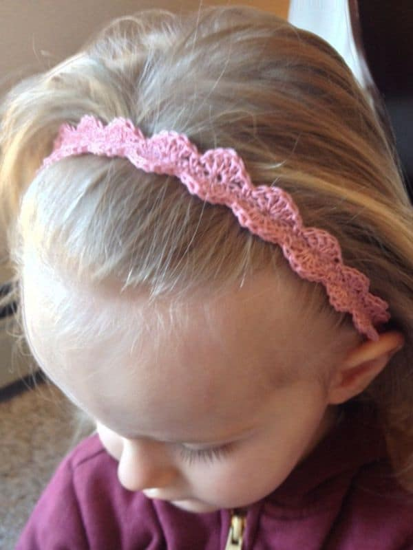 Scalloped Lace Toddler Headbands - Easy Crochet Baby Headband Patterns for Beginners