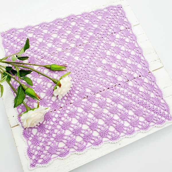 Square Lace Doily - Easy Crochet Doily Patterns for Beginners