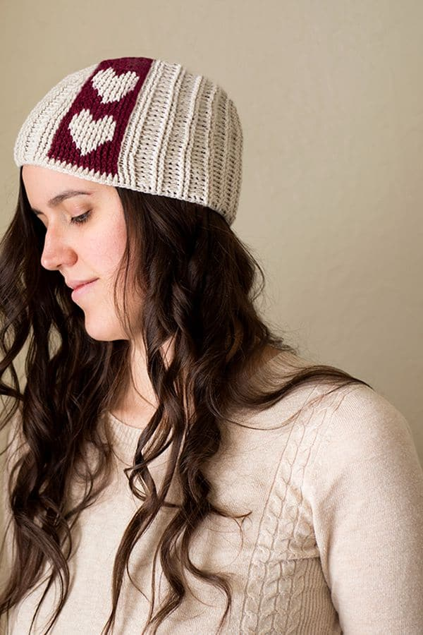 Sweet-ish Subtlety Crochet Hat - Easy Crochet Valentine's Day Free Patterns for Beginners
